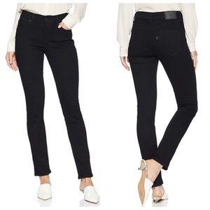 Levi's Black Mid-Rise Skinny Jeans
